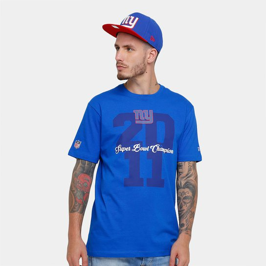 1c700d996 Camiseta New Era NFL New York Giants Piquet Masculina - Azul Royal ...