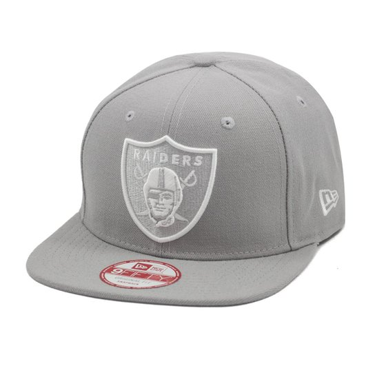 Boné New Era Snapback OF Oakland Raiders NFL - Cinza - Compre Agora ... d4855f35cb2