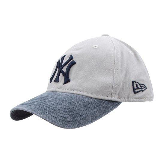 a0980c4741 Boné New Era MLB New York Yankees Aba Curva 920 St A.L. East Patch - Cinza