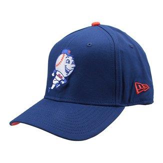 Boné New Era MLB New York Mets Aba Curva 940 Hp Sn Basic Coop 38aa11e35c3