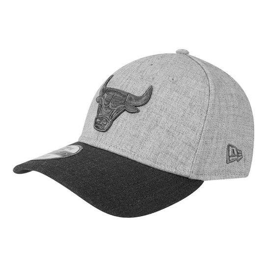 58cfdce794e8d Boné New Era NBA Chicago Bulls Aba Curva 3930 Heather - Compre Agora ...