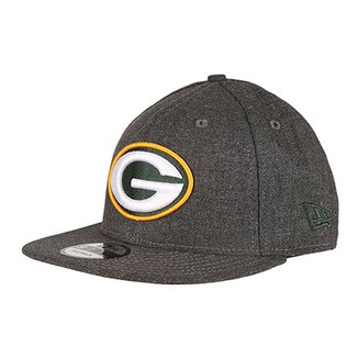 Boné New Era NFL Green Bay Packers Aba Reta 950 Crafted In The Usa beddd50c2d4