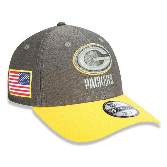 Bone Green Bay Packers Salute To Service STS Militar 3930 2017 - New Era -  Cinza f0180c3b6d3