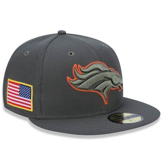 Boné Denver Broncos 5950 Salute To Service 17 Fechado - New Era - Cinza 8e42bf178db