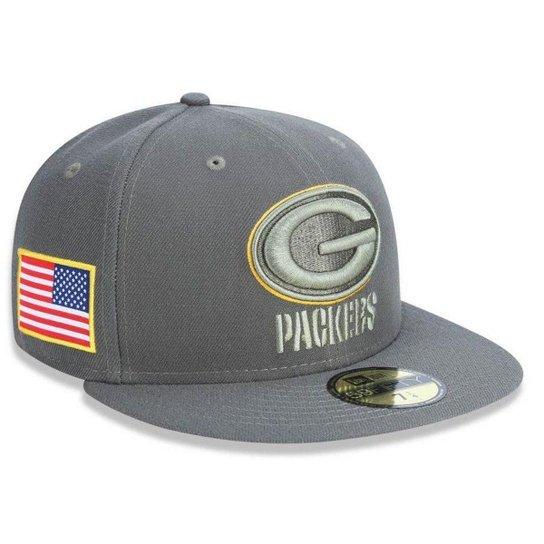 Boné Green Bay Packers 5950 Salute To Service 17 Fechado - New Era - Cinza 89b98d9e76d6b