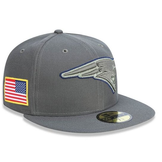 Boné New England Patriots 5950 Salute To Service 17 Fechado - New Era -  Cinza fd3be54328d