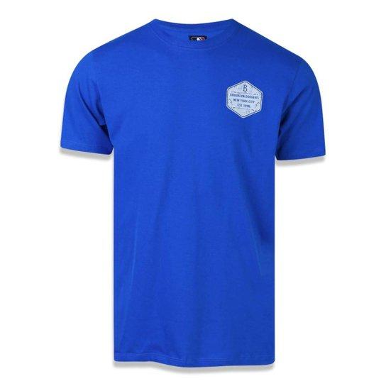 Camiseta New Era Los Angeles Dodgers MLB Masculina - Azul Royal ... 9cd4328d861