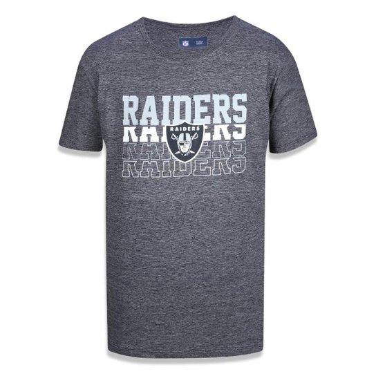 Camiseta Oakland Raiders NFL New Era Masculina - Cinza - Compre ... 2a53d202669