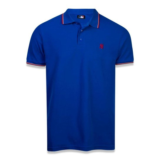 Camisa Polo New York Yankees MLB Mescla Negro New Era - Azul Royal ... 3c317ae2094