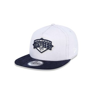b045b1927d7a3 Boné Golfer New York Yankees MLB Aba Curva Snapback New Era