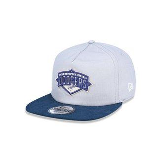 Boné Golfer Los Angeles Dodgers MLB Aba Curva Snapback New Era 8994ee9c74e