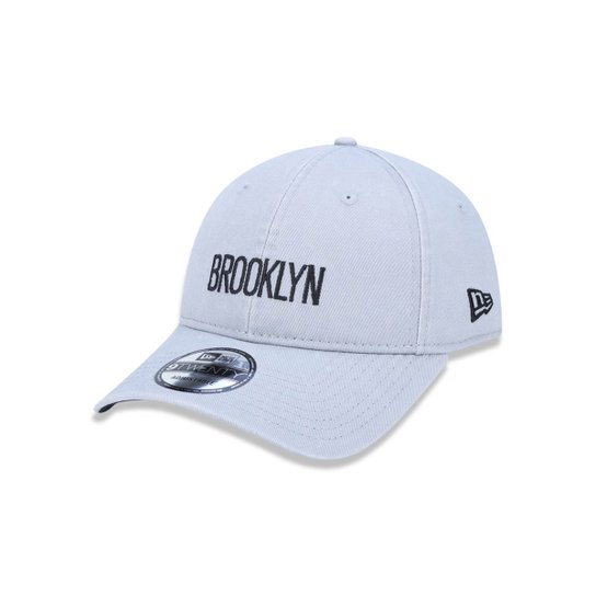 Boné 920 Brooklyn Nets NBA Aba Curva Strapback New Era - Compre ... 1d1799f4fc023