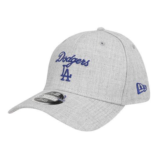 d4a601de6b Boné New Era MLB Los Angeles Dodgers Aba Curva 3930 Core Heather - Cinza
