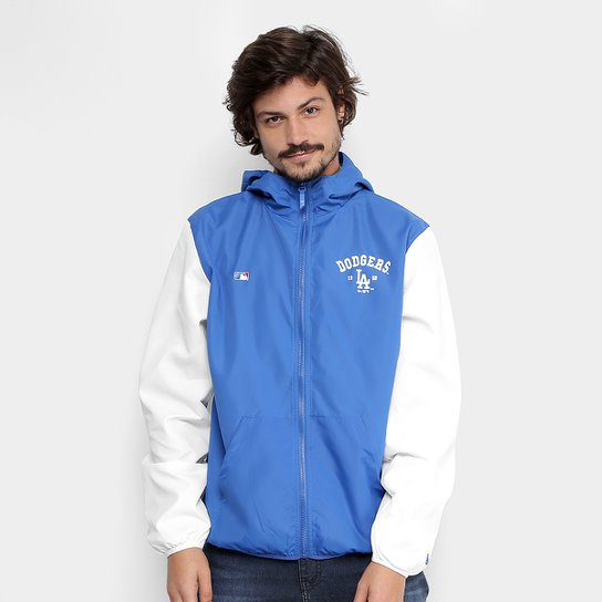 127ffc7e3d Jaqueta MLB Los Angeles Dodgers New Era Windbreak Core Masculina - Azul  Royal