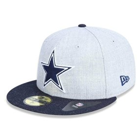 Boné Dallas Cowboys 5950 Heather Crisp Fechado - New Era 4f0c9c9ef9a