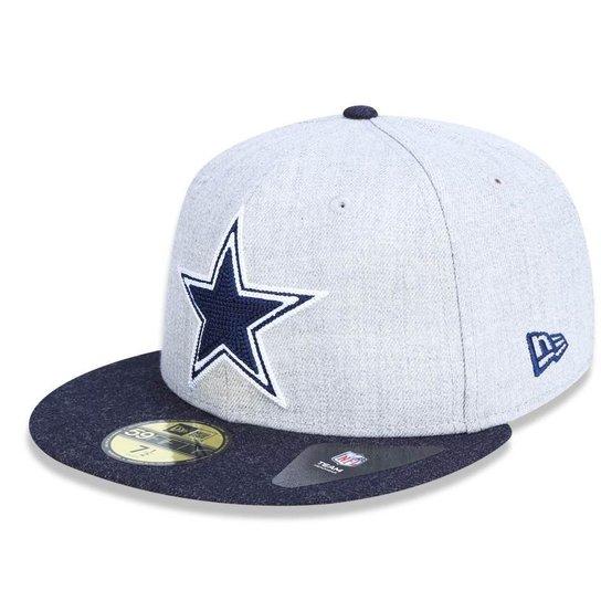 0b38bf056479e Boné Dallas Cowboys 5950 Heather Crisp Fechado - New Era - Cinza ...