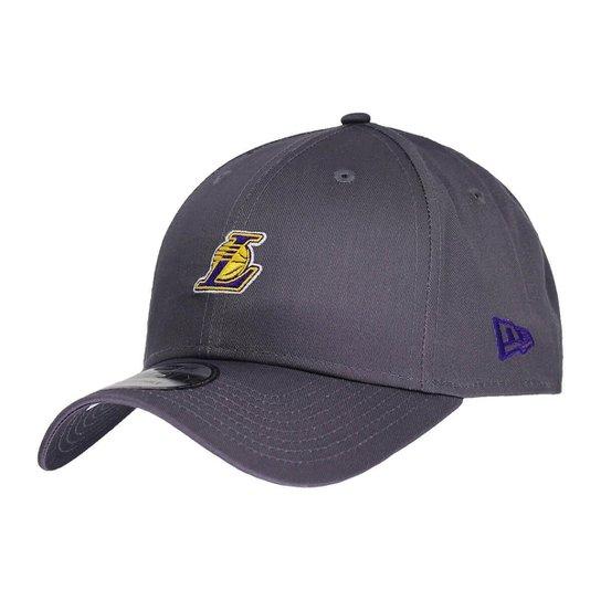 Boné New Era Aba Curva Snapback Nba Lakers Mini Lo - Cinza - Compre ... dd73989f147