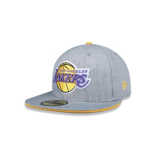 d6ff5499fa1fb Bone 5950 Los Angeles Lakers NBA Aba Reta New Era - Compre Agora ...