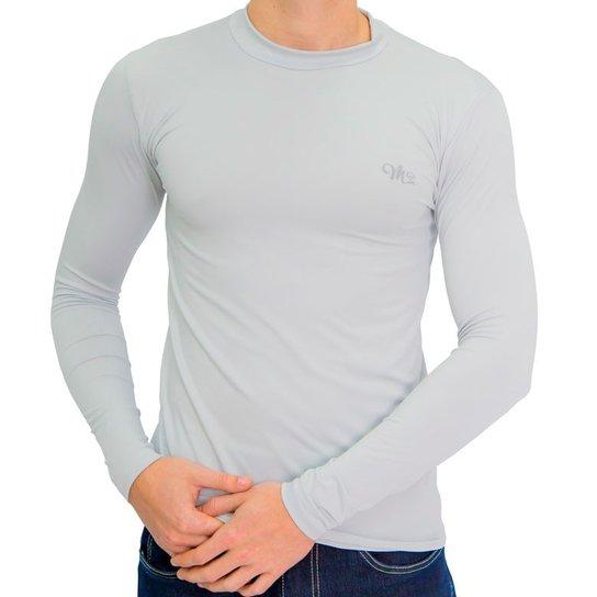 Camiseta Térmica Manga Longa Masculina - Cinza - Compre Agora  e331a2926c3f9