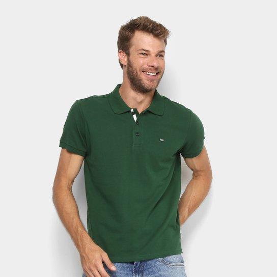 e6128fb79f21f Camisa Polo Gangster Piquet Com Elastano Masculina - Verde escuro ...