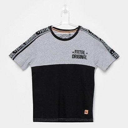 Camiseta Infantil Fatal Original Mescla Masculina
