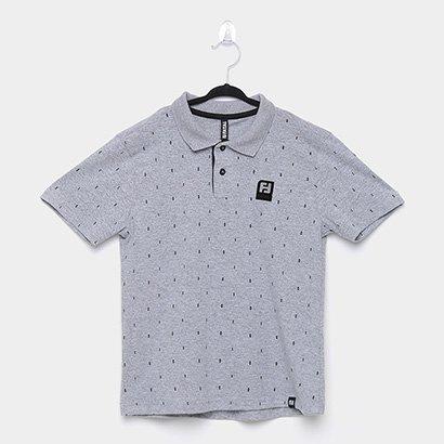 Camisa Polo Infantil Fatal Mini Print Masculina