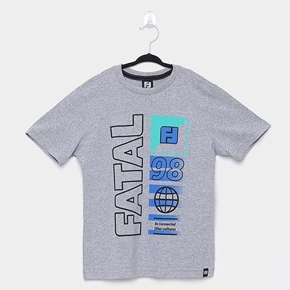 Camiseta Infantil Fatal Connected With Cultures Masculina