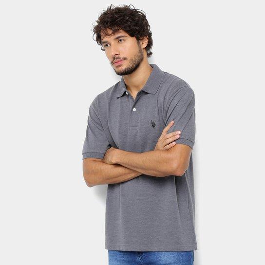67c794ebf5 Camisa Polo U.S. Polo Assn Básica Lisa Masculina - Cinza