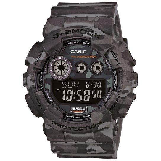 2b460923b26 Relógio G-Shock Digital GD-120CM - Chumbo e Cinza - Compre Agora ...