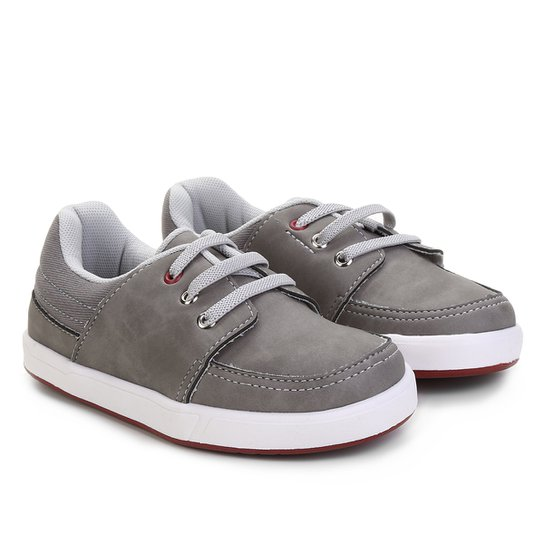 baa2d843f Sapato Infantil Pimpolho Básico Masculino - Cinza | Netshoes