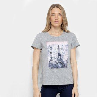 08e4ec04c Camiseta Facinelli Paris Feminina