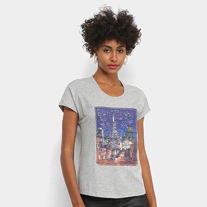 Camiseta Facinelli Paris Paetês Feminina