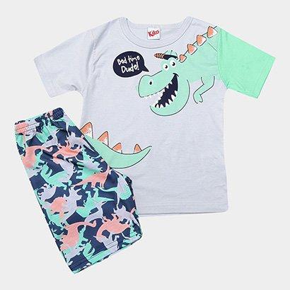 Pijama Infantil Kiko & Kika Dinossauro Masculino