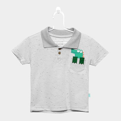 Camisa Polo Infantil Kiko & Kika Piquet Jacaré Masculina