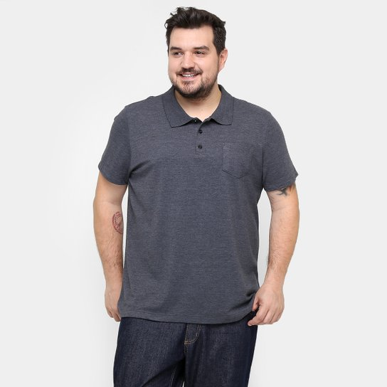 0728695eef98 Camisa Polo Kohmar Piquet Plus Size Masculina - Cinza | Netshoes
