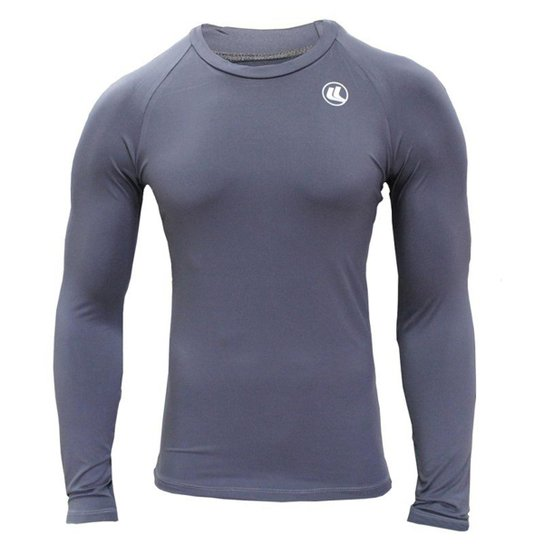 Camisa Térmica EL Fator UV Manga Longa Poliamida - Cinza - Compre ... 854ddf2829a4a