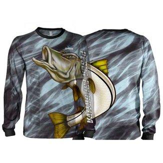 b1572090e Camiseta Pesca Quisty Robalo Arisco Proteção UV Dryfit Adulto