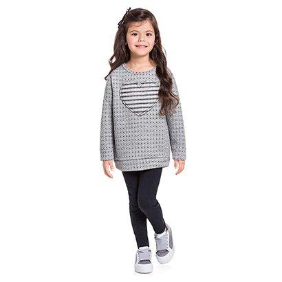 Conjunto Infantil Milon Casaco Matelassê e Legging Feminino