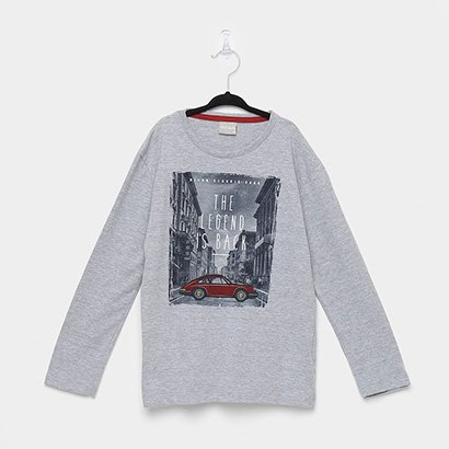 Camiseta Infantil Milon Manga Longa Estampada Masculina