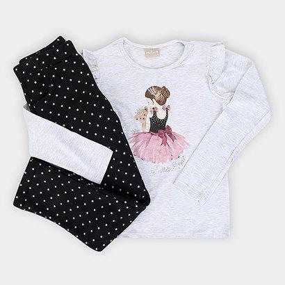 Conjunto Infantil Milon Blusa Bailarina e Moletom Feminino
