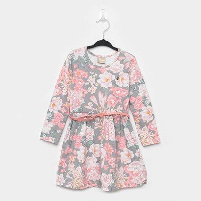 Vestido Infantil Milon Floral + Cinto
