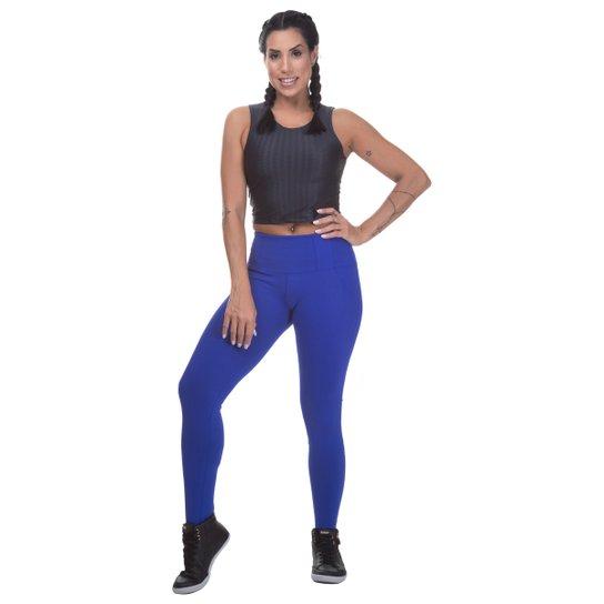 125e701d9 Calça Legging Miss Blessed Suplex Com Bolso Falso - Azul Royal ...