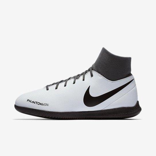 Chuteira Futsal Nike Phantom Vision Club DF IC - Cinza - Compre ... ff48cfa507523