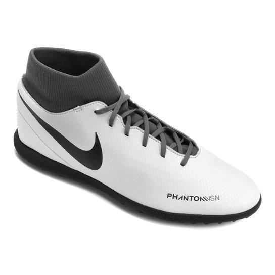 87e725b9a96 Chuteira Society Nike Phantom Vision Club DF TF - Cinza - Compre ...