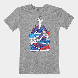 Camiseta Infantil Nike B Nsw Tee Sneaker Pile Masculina db4995074bc61