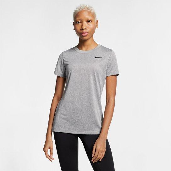 61075868cc Camiseta Nike Dry Leg Tee Crew Feminina - Cinza - Compre Agora ...