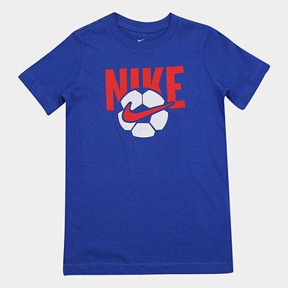 Camiseta Infantil Nike B Nsw Tee Soccer Ball Masculina