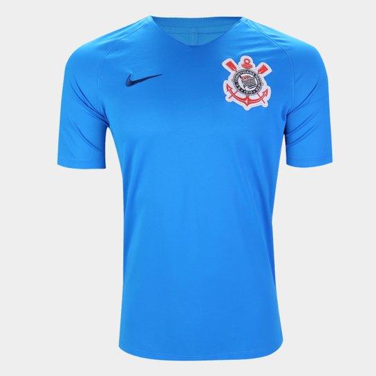 Camisa Corinthians Treino 19 20 Nike Masculina - Azul Royal - Compre ... 30693cde55d93