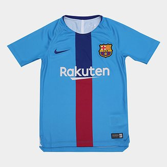 9d516dbabe4e6 Camisa Barcelona Infantil 19 20 Treino Nike