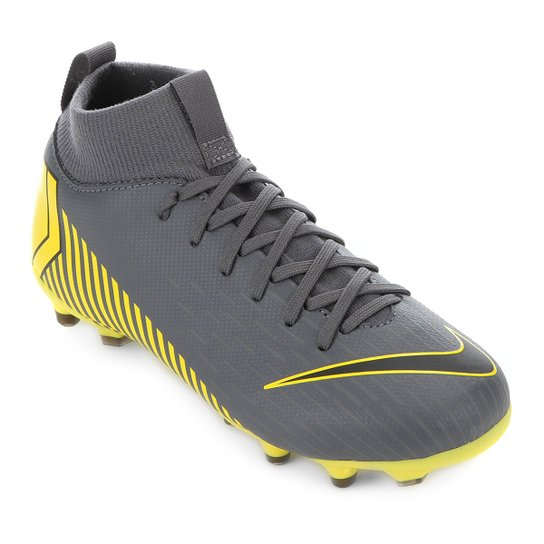 b9d6308188 Chuteira Campo Infantil Nike Mercurial Superfly 6 Academy GS FG - Cinza